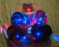 Discount christmas costume dance - New Light Up Party Hat Flashing LED New Years Party Blinking Dance Costume hats for christams
