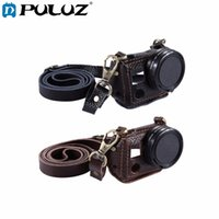 Wholesale Uv Camcorder - Camera Litchi Texture Genuine Leather Housing Case with Set Key Hole&Camera Neck Strap 40.5 52mm UV Lens for Sport Camera Hero5 4
