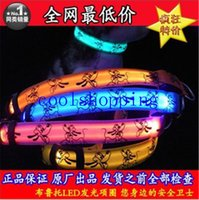 Niedliche Cartoon-Hunde LED Nylon Haustier Hund-Katze-Kragen Nacht Sicherheit LED-Licht-up Flashing Glow in the Dark beleuchtete Hundehalsbänder
