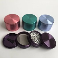 Wholesale Aluminium Parts - Grinder Sharp Stone 4 parts 2.5inches diameter aluminium alloy herbal tobacco cnc teeth filter net dry herb vaporizer pen vaporizer