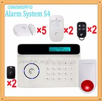 Wholesale Auto Drive System - Free Shipping DHL, Small flat burglar SMS notification gsm alarm kit driving burglar away system