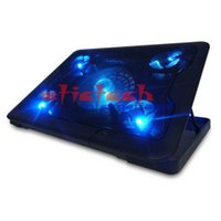 by dhl или ems 100шт Подлинная 5 вентилятор 2USB Laptop Cooler Cooling Pad Base LED Notebook Cooler Компьютер USB для ноутбука 10 '' - 17 ''