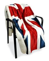 ingrosso bandiera britannica britannica-Stati Uniti British UK Flag Coral Fleece Coperte sul letto Home Viaggio US Flag Coperta Lenzuolo Lenzuolo 130x160cm
