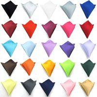 Wholesale wedding cravats - Fashion Simple Solider Hanky Handkerchief Business Square Pocket handkerchief Kerchief Wedding Groom Fashion Accessories 210053
