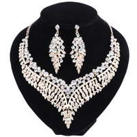 Moda Bridal Jewelry Sets Casamento Engagement Colar Brinco para Bride Party Costume Acessórios Indian Jewellery Sets Mulheres