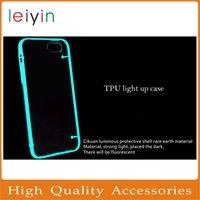 Wholesale Luminous Case S4 - for iPhone 6 CaseTransparent Luminous Light Up TPU PC Hard Case Ultra Thin Skin Case for iPhone 6 6 Plus Samsung Galaxy S6 S5 S4 Note3 4