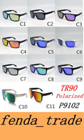 Wholesale Wholesale Cat Eye Frames - TR90 Picture frame 2017 NEW man women brand sunglasses Designer design 9102 High quality polarizedlens sunglasses color11 MOQ=10