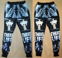 Wholesale Cool Relaxing - 2015 new fashion men women's sport jogging pants 3D print Tupac 2Pac cool skinny sweatpants track running joggers trousers