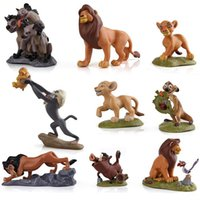 Wholesale Lion King Action Figures - Free Shipping New 9PCS LION King Simba Nala Action Figures Play Set Good for Children Birthday Gift