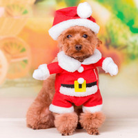 Wholesale Pet Santa - Pet Dog Sweater Coat dog Clothes Autumn Warm Defensive Cold Cotton Puppy Knitting Dogs Sweatershirt Santa Claus dog dress up wholesale