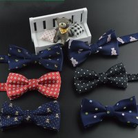 Wholesale Cheap Ties For Men - Cheap Children Bow Tie Color Butterfly Wedding Party Bow tie Groom Ties Bow Ties Men Vintage Wedding party pre-tie Bow tie For Kids