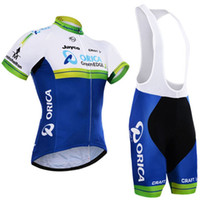 Wholesale Greenedge Jersey - 2017 Team Orica Greenedge Cycling Jerseys 3D Pad Bike Shorts Breathable Quick Dry MTB Ropa Ciclismo Bicycling Maillot Culotte Suit C0912
