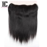 "Wholesale virgin frontals - 7A Peruvian Virgin Hair Straight Lace Frontals Closure 1 Bundle Soft Peruvian Straight Virgin Hair 13""x4"" Lace Frontal Closure"