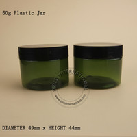 кремовые банки оптовых-50 мл грамм пустая пластиковая банка с крышкой косметическая упаковка макияж бутылка горшок для Маска для лица Крем для рук контейнеры