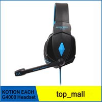 Wholesale Led Light W Wire - High Quality KOTION EACH G4000 Stereo Noise Cancelling Gaming Headset w Mic HiFi Driver LED Light for PC cellphone 002994