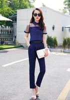 Wholesale Ladies Gauze Pants - 2015 jumpsuit ladies overalls woman overalls woman Summer style Was thin gauze pants jumpsuit female Siamese fight chiffon pants S-XL