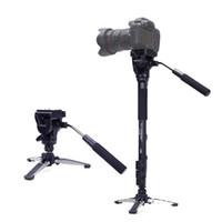 soporte de monopie al por mayor-YUNTENG 288 Monopod de apoyo de tres pies con cabezal móvil VCT-288 para videocámara con cámara DSLR
