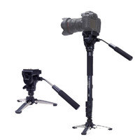 Wholesale Monopod Camera Head - YUNTENG 288 three Feet Support Monopod with Fluid Pan Head VCT-288 for DSLR Camera DV Camcorder