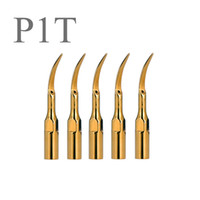Wholesale Dental Scaler Handpiece Tips - NEW GOOD 5pcs P1T Dental Ultrasonic Scaler Tips golden scaling tips handpiece Compatible with EMS and Woodpecker