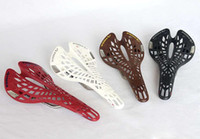 Wholesale Tioga Bike Saddle - 2014 TIOGA TwinTail Saddle Seat Road Bike bicycle MTB Fixed Gear 142g nets shape hollow out, 4 colors(Red, White, Black, Brown ) 082323