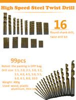 Wholesale Twist Handle - High Quality HSS High Speed Steel Titanium Plating Round Handle Twist Drill Mini Drill Bits Set Woodworking Drill