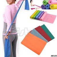 Wholesale Cheapest Resistance Bands - Wholesale-Y125Hihg Quality! 2015 New Cheapest Exercise Pilates Yoga Dyna Resistance Abs Workout Physio Aerobics Stretch Band