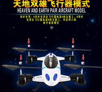 Wholesale Flying Toys Cars - WIFI control RC Drones flying and run car toy helicopter Quadcopter with 2M HD Camera 2.4G 6-Axis with light 2 function new