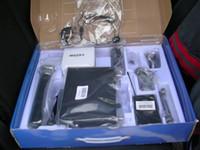 micrófono corporal al por mayor-Transmisor de cuerpo de micrófono inalámbrico de alta calidad + auriculares + Micrófono de mano + micrófono con clip con embalaje al por menor Envío gratuito de DHL