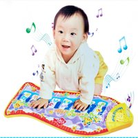 Wholesale Fishing Education - Free shipping New Hot Baby Kid Child Piano Music Fish Animal Mat Touch Kick Play Fun Learning & Education Toy Gift New baby play mat TY681