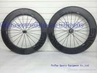 Wholesale Carbon Bikes Rims - 2015 Newest dark decal wheels full carbon wheel 88mm rim bicycle wheelset with powerway R36 straight pull hubs or novatec 271 hubs