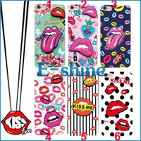 Cellphone Fall für Apple iPhone 5 6 / 6s 6 / 6s plus Mode sexy Lip Kiss mich schlank TPU Gel Haut Abdeckung