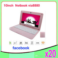 Wholesale Cheap Android Laptop Computer - Cheap 10inch Mini Laptop Notebook Computer webacm 512 4GB OR 1G 8Gia V8880 Android netbook laptops 20pcs ZY-BJ-3