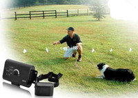Wholesale Grounding Electronics - 2014 Brand New Waterproof dog fence Electronic Smart Dog In-ground Pet Fencing System shock collar BLACK High Quality