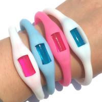 Wholesale Anion Waterproof Watch - Fashion LED Waterproof Digital Wristwatche Sports Wrist Bracelet Watch Anion Silicone Watch Free Shipping Via DHL
