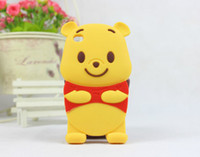 Wholesale S4 Winnie - 3D Cute Cartoon Winnie the Pooh Silicon Case For iphone 4 5 5S iphone 6 4.7 plus 5.5 Samsung galaxy S3 S4 S5 Note 3 Note 4 OEM