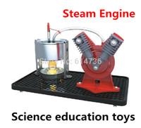 diy oyuncak kiti toptan satış-Sıcak Hava Buhar Motoru / Bilim eğitici oyuncaklar / buhar motoru deneyleri Modeli Yapı Kitleri çocuklar için DIY