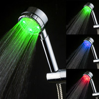 Wholesale Oil Rubbed Bath Faucets - LED Shower Heads Luxury Oil Rubbed Bronze Bath Shower Faucet Set Single Holder Dual Control LD8008-B26 without color box