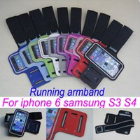 Wholesale Galaxy S3 Arm - For Iphone 6 Sports Running Armband Case Workout For Samsung Galaxy S3 i9300 S4 i9500 Phone Arm Band and samsung S3 S4 Pouch Cases