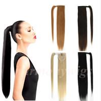 Wholesale ponytails for sale - Brazilian hair Ponytail Human Hair Ponytails inch g Straight Indian Clip Hair Extensions more color