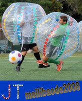 Wholesale Tpu Soccer Ball - NEW Inflatable bumper ball to play soccer body Zorb Inflatable bumper ball hit both sports entertainment pool toys 1m 1.2 m 1.5 m MYY15056