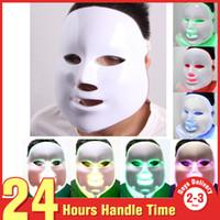 Wholesale Lighted Mask Acne - Beauty Salon Hot Sale 7 Color Photon Acne Removal LED PDT Photon Therapy Skin Rejuvenation Facial Mask Beauty Device