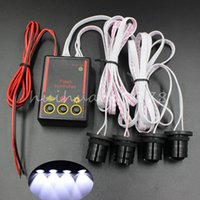 Wholesale Car Headlights Strobe - Car Truck 4W Strobe Emergency Warning Flash Eagle Eye Light Headlight White