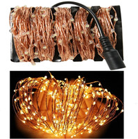 Al por mayor-165Ft / 50m 500 Leds alambre de cobre LED String Starry luces de hadas para la boda de navidad al aire libre + DC 12V adaptador de corriente EU / US / UK / AU