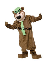 Wholesale Yogi Bear Mascot Costume - Yogi Bear Mascot Costume Adult Mascot Men's for Party and Valentine's Day Thanksgiving Day Christmas Halloween and New Years