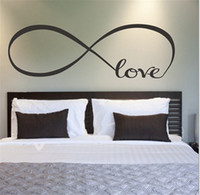 Wholesale Wall Stickers Personalized Quote - Free shipping Personalized Infinity Symbol Bedroom Wallpaper Decals Love Quotes Painting Wall Art Bedroom Decor Wall Stickers
