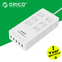 Wholesale Strip Poles - Surge Protection Power Socket with usb power strip IC for Ipad Iphone (white)