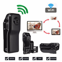 Wholesale mobile surveillance - Waterproof TF Card MD81 ABS 32GB Mobile Remote Wifi Wireless Network Surveillance Camera With Bracket With USB Cable