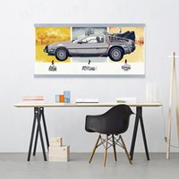 Wholesale Pictures Movie Posters - Back To The Future Car Vintage Movie Poster A4 Pop Film Wall Art Picture Modern Home Decor Canvas Painting No Frame Boy Kid Gift