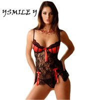 nuovo profondo v donne sexy lingerie hot lace Notte Sleepwear sexy intimo babydoll Dress G String lingerie sexy costumi sexy