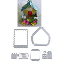Wholesale Books House - 83.8*82.8mm House New scrapbooking DIY Carbon Sharp Metal steel cutting die Book photo album art card Dies Cut q171128
